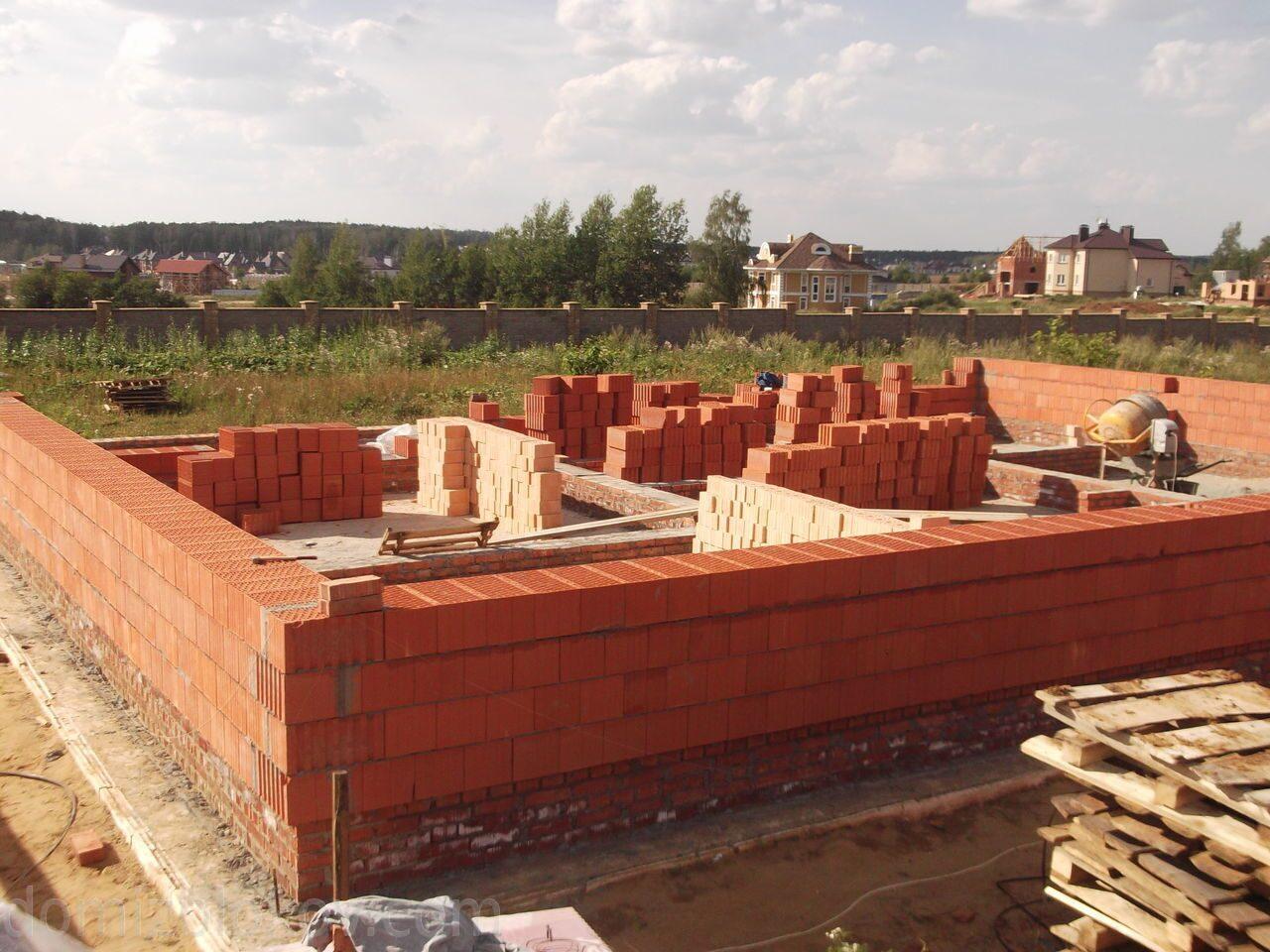 строительство дома из керамических блоков фото одна